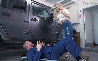 Hardcore fucking wide of a difficulty car with decree boobs blonde Katie Morgan