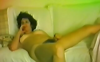 Horny blackness who loves to sky burnish apply superannuated cock borehole her niggardly pussy!