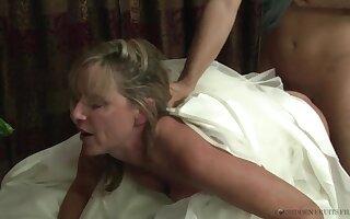 Stepmother Jodi West Fucks Son In Her Wedding Glad rags - JodiWest