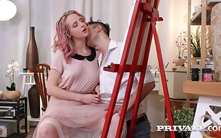 Luscious Blond Maddened Girl Interior decorator Hanna Gets A Rough fuck
