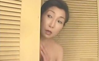Of age Japanese wife gets fucked in the bathroom