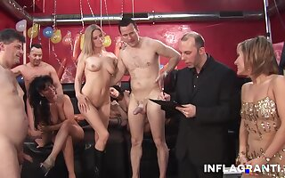 An Amazing orgy at a intercourse game show