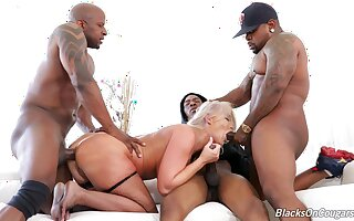 This is the hottest gangbang London River has ever experienced