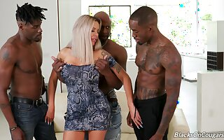 Crafty time fucking in a catch ass with three black hunks