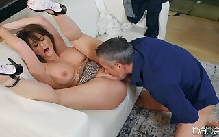 Mature moans hard with endless inches spinning dominant will not hear of