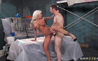 Stunning blonde MILF Lolly Ink loves teasing and having sex