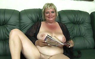 Granny Olga on my audition - amateur porn