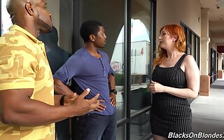 Curvaceous white milf Lauren Phillips is fucked by two hot blooded outrageous guys