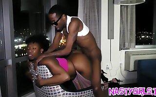 Crestfallen ebony pounded