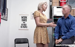 Seductive busty milf Amber Hunting gets punished for shoplifting