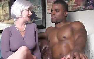 Naughty blonde wife having fun with BBC on vacation