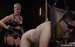 progenitrix femdom pissing on male slave