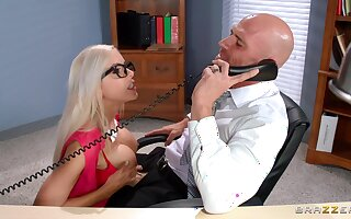 Vitalized secretary pleases the boss with the ultimate fuck