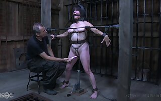 Old bitch with chubby body Femcar gets punished added to chagrined in the BDSM room